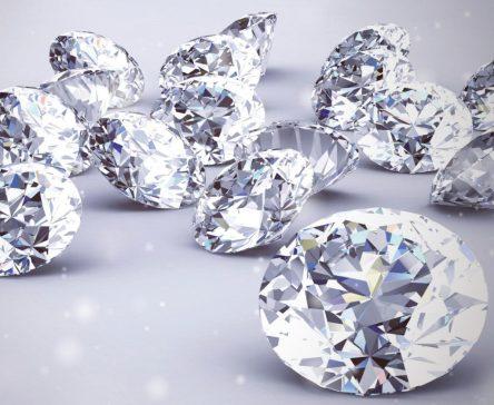 Modern brilliant-cut diamonds