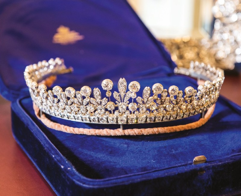 A tiara containing 426 old-cut diamonds, which was recently valued by Ogden's