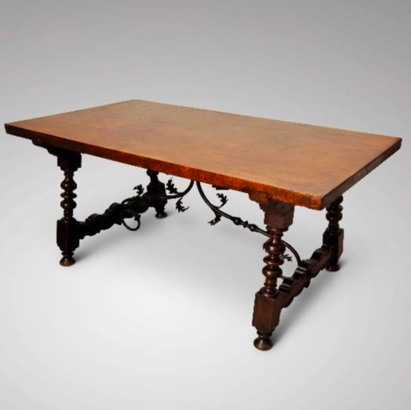 Antique 18th century walnut table