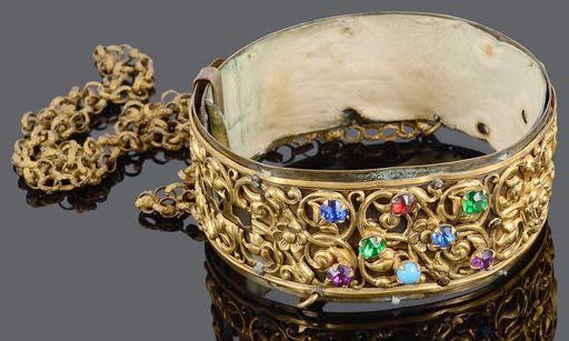 An antique dog collar