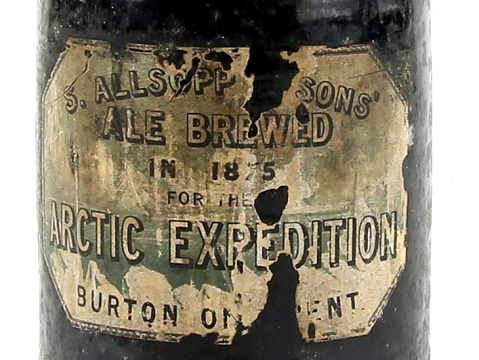 Arctic expedition bottle of ale