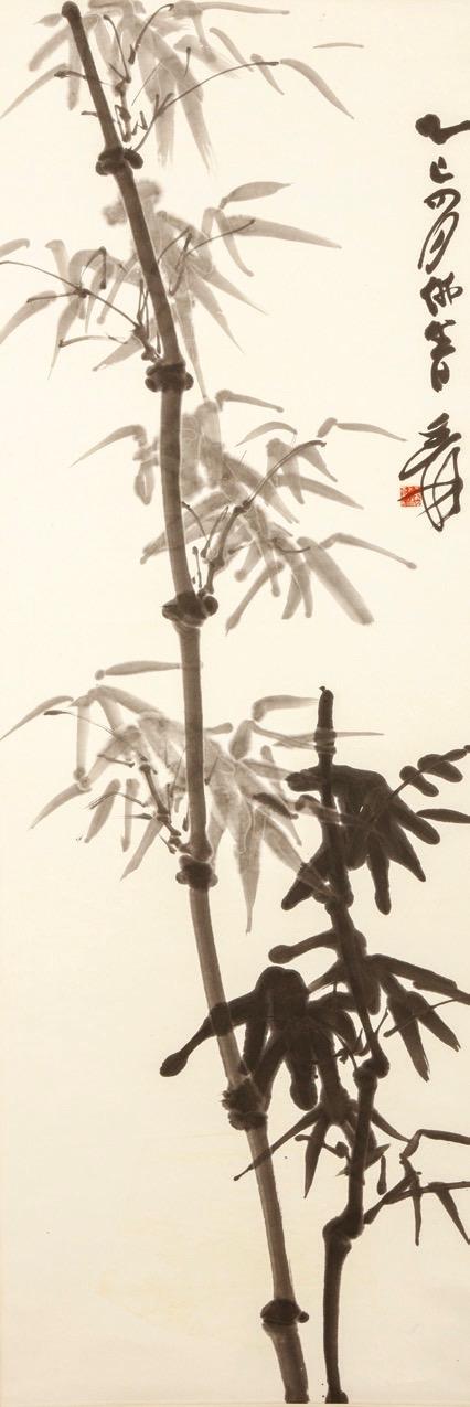 Chinese 20th-century artist Zhang Daqian, Bamboo, hanging scroll