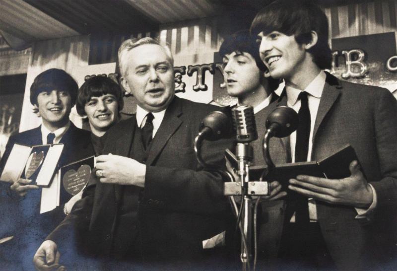 Harold Wilson with The Beatles