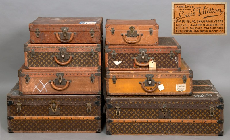 The collection of Louis Vuitton luggage