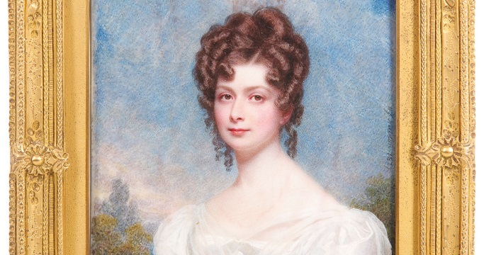 a miniature portrait of a lady