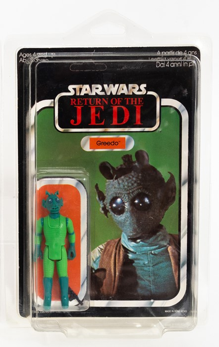 A vintage Star Wars Return of the Jedi Greedo figure