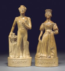 Porcelain figurine of Queen Victoria and Prince Albert