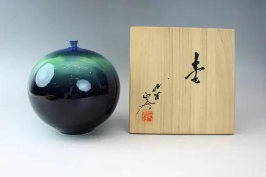 徳田正彦/九谷焼 壺