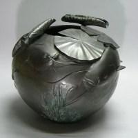 京田政春作銅製花器