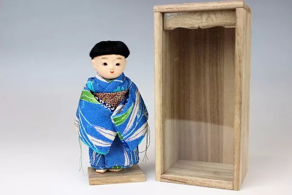 藤村明光作 四寸三つ折豆市松人形