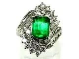 2.3カラットのエメラルドダイヤ指輪