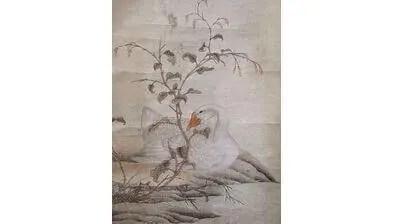 花鳥画掛け軸③