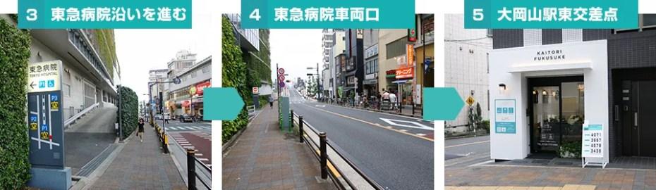 買取福助 大岡山店への道順2
