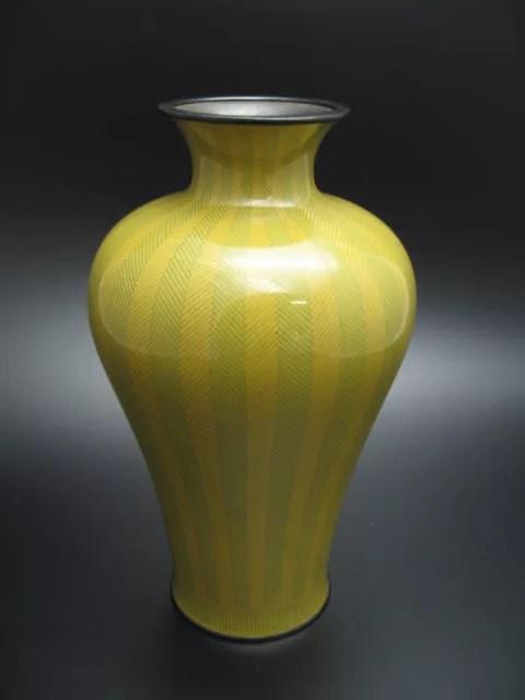 幾何学文古七宝花瓶