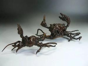 根木蟹置物