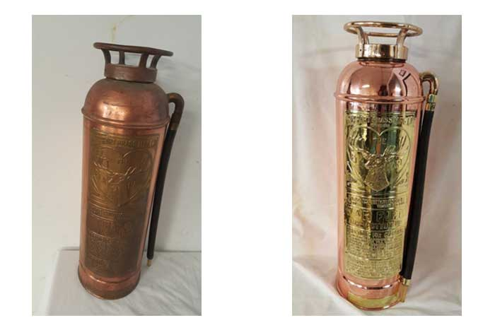 Refinished Antique Fire extinguisher