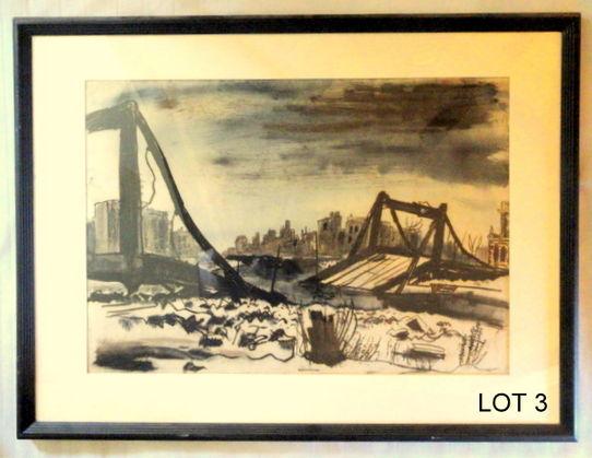 George Grosz Mixed Media Art