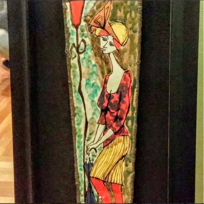 Here is a great mid century ceramic panel/sculpture done, and signed by Aldo Tambellini. #midcenturymodern. #midcenturypottery. See us at the Brimfield Antique Show. MAY'S Field. May 10th@9am