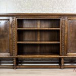 Solid Oak Bookcase From The 40s