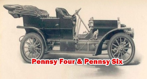 This Article is about Pennsy Four Cylinders and Pennsy Six Cylinders antique car details - Model,Engine,System,Year and other spare parts details.