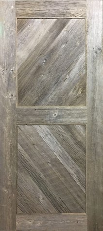Custom Grey barn board door Engineered