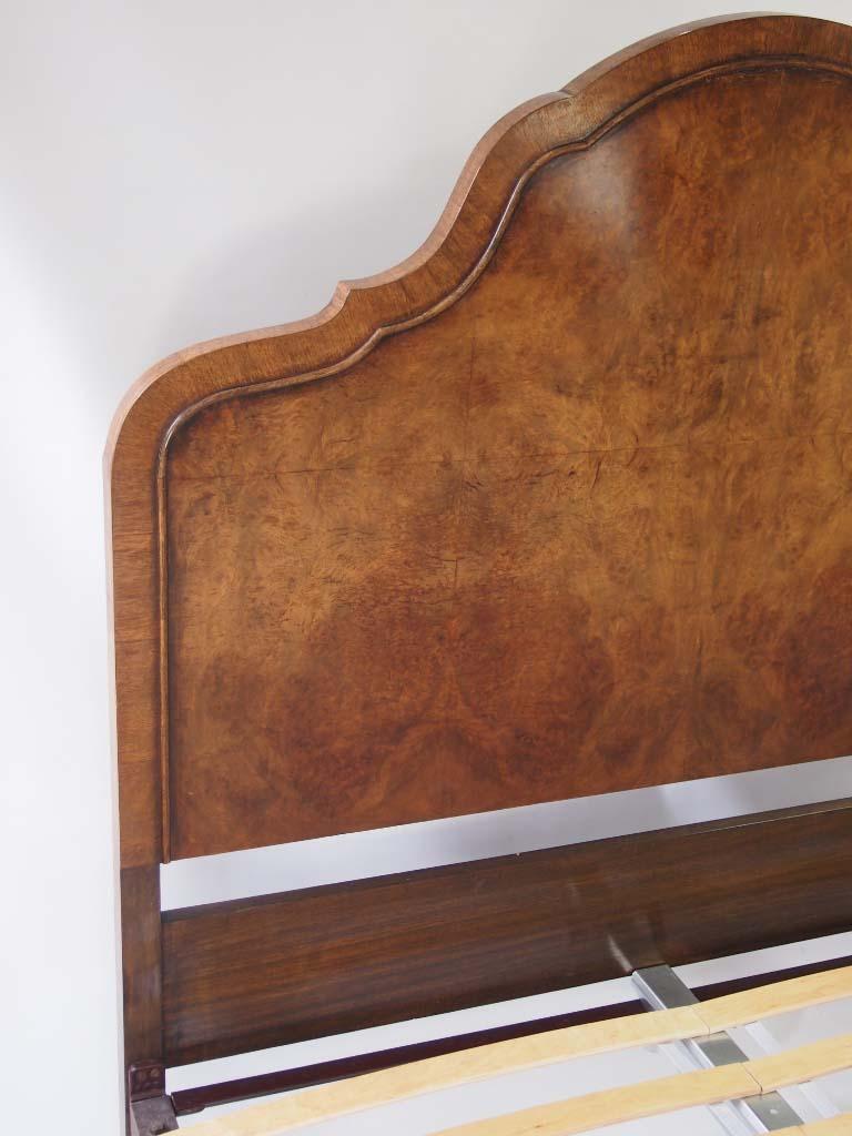 Vintage Burr Walnut Queen Anne Double Bed For Sale