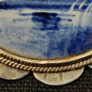 Delft Silver Brooch
