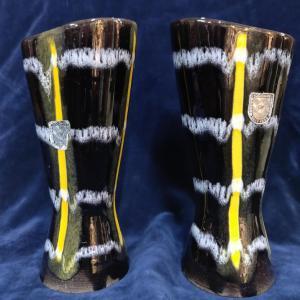 Pair of West German Flower Vases