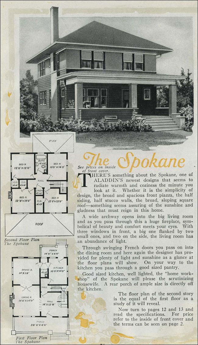 1920 Houses Prairie Box Aladdin Kit Home Pyramidal