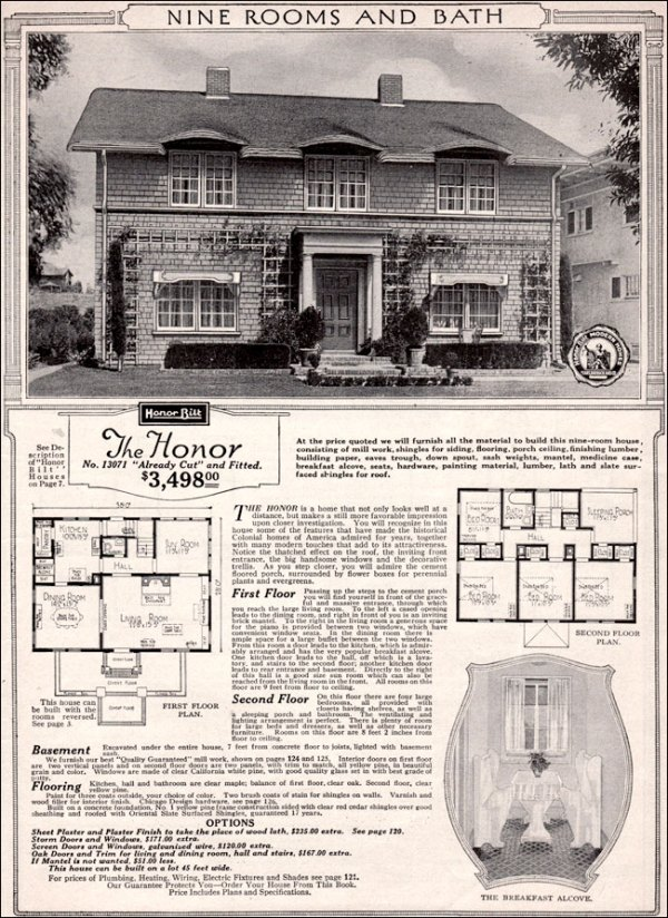 The Honor by Sears 1923 Sears Kit Homes Traditional