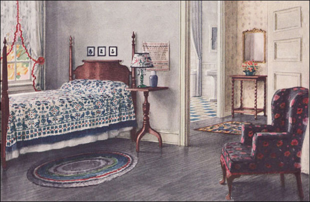 1924 Armstrong Bedroom   Colonial Style   Vintage Interior Design of     1924 Armstrong Bedroom