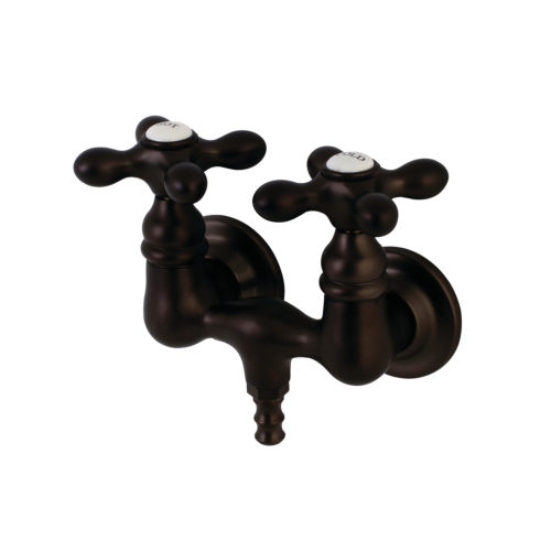 wall mount clawfoot tub faucet with metal cross handles
