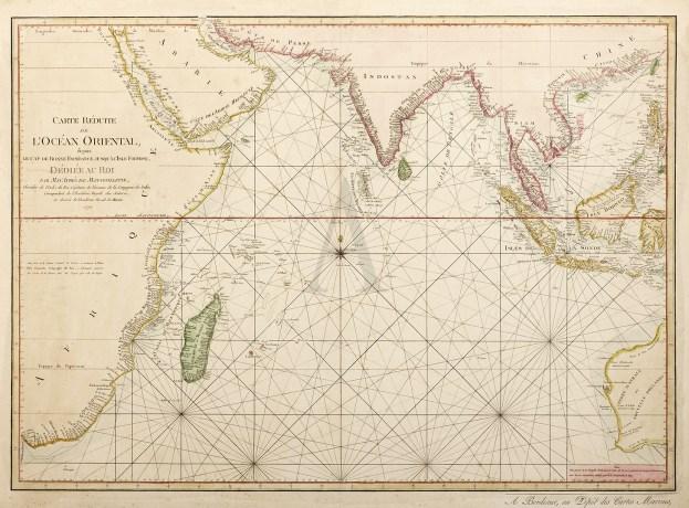 Carte Reduite de L'Ocean Oriental, depuis Le Cap de Bonne Esperance Jusqu'a L'Isle Formose, Dediee au Roi - Antique Map from 1809