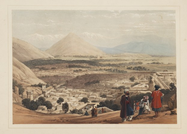 AFGHANISTAN-[The Balla Hissar and the city of Caubul, from the upper part of the Citadel.] - Antique View from 1842