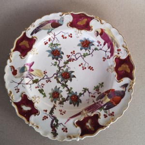 Chelsea Rococo Plate with birds
