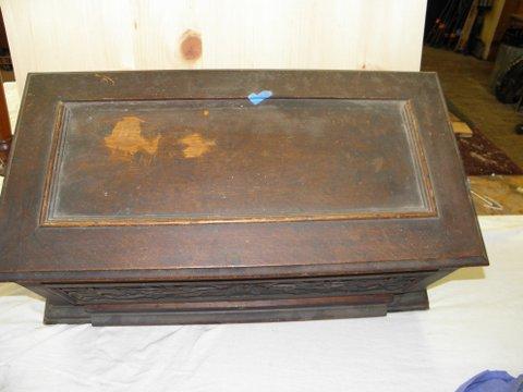 Music Box Refinishing - Before