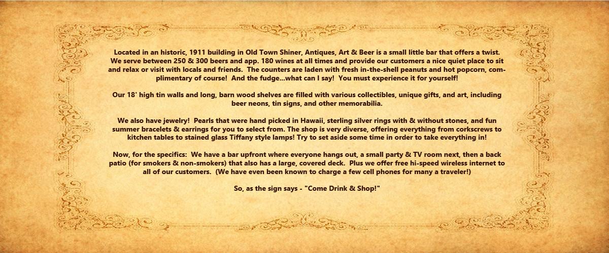 Permalink to: Antiques, Art & Beer