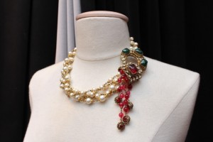 Vintage Chanel From Paris Chanel several rows of faux pearls with an arabesque element