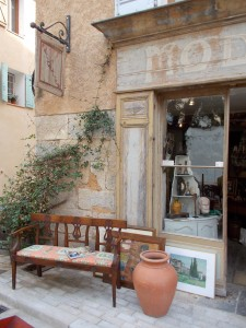 An Afternoon in Cotignac Antiques Shop