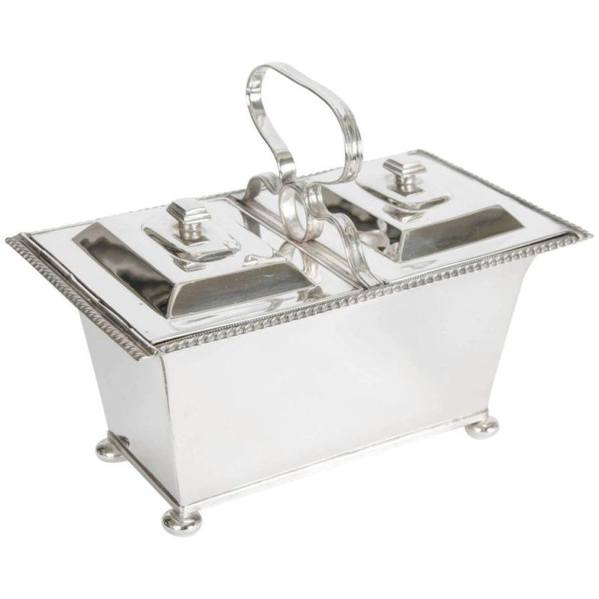 English Tea Caddy-Silver Double