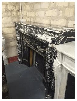 Brendan Von Enck's favorite antique fireplace mantel at the Paris Flea Market