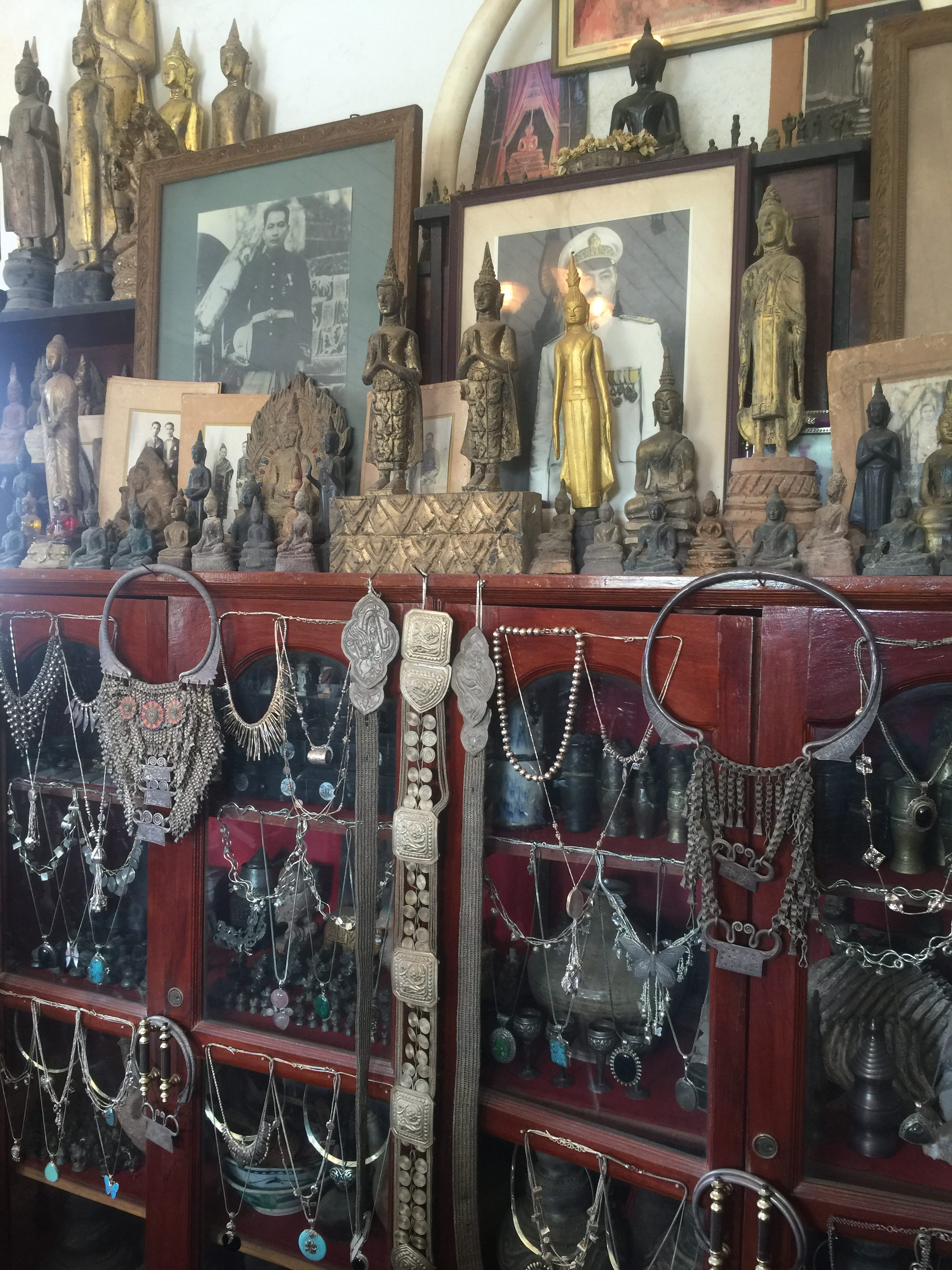 Antique Silver Jewelry and Buddha Statues Luang Prabang Laos Asia Antiques Buying Tours with The Antiques Diva