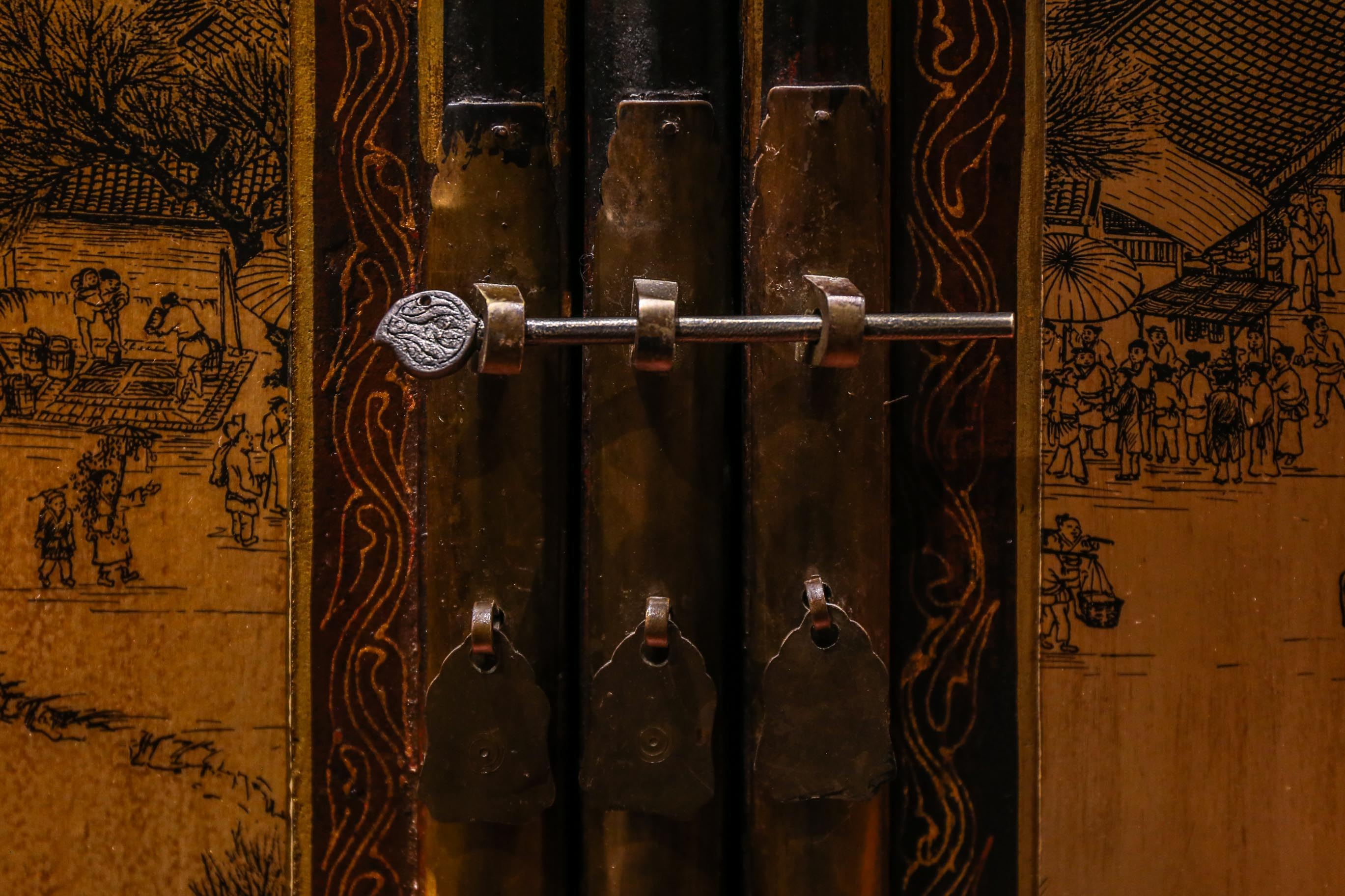 Detail of Antique Chinese Hardware Yangon Myanmar (Burma) Asia Antiques Buying Tours with The Antiques Diva