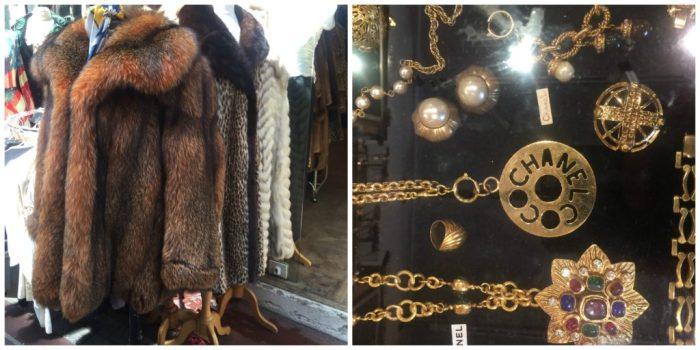 Vintage fashion at the Paris Flea Marke