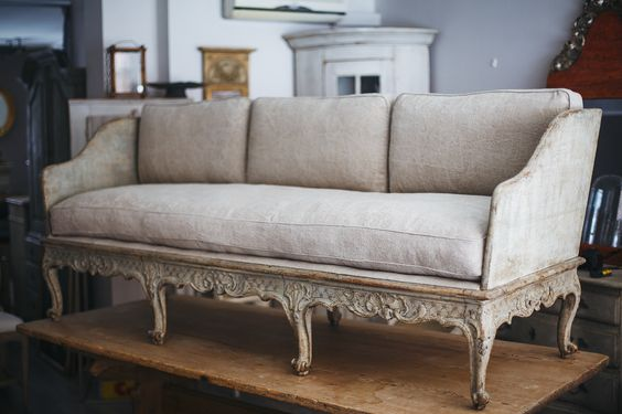 How to Buy Antiques in Sweden: Swedish Rococo Sofa, Ca 1760