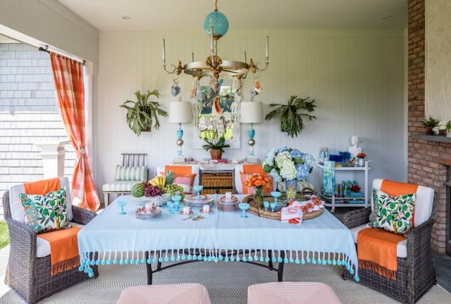 Hampton Showhouse porch by Interior designer Lisa Mende