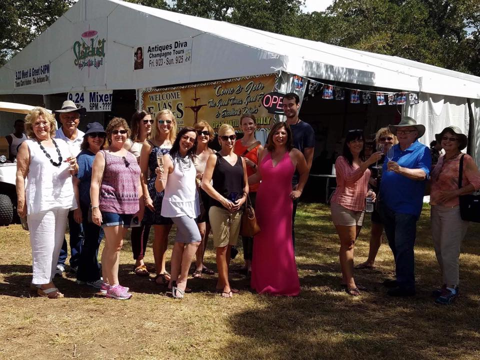 Antiques Diva Champagne Tours at Round Top
