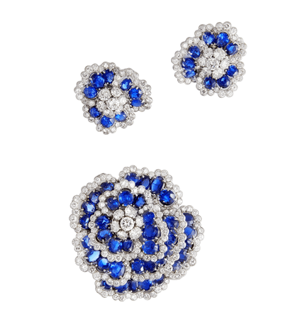 Véronique Bamps Van Cleef & Arpels Set Of Earclips And Brooch
