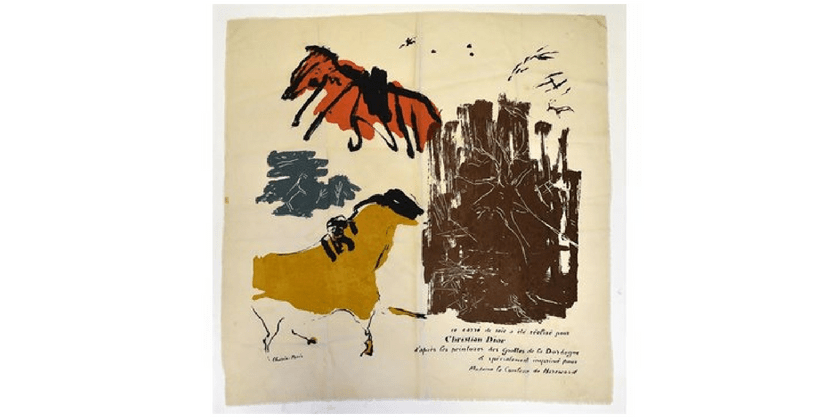 Unique Christian Dior Scarf Up For Auction Saturday | Toma Clark Haines | The Antiques Diva & Co
