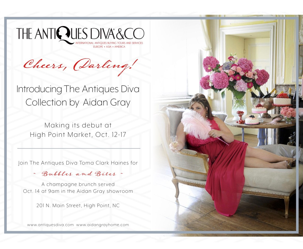 Bubbles and Bites: The Antiques Diva Collection by Aidan Gray Home launch event at HPMKT